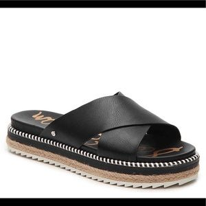 Sam Edelman Black Leyton Espadrille Sandals